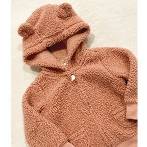 Carter's Rose Pink Fuzzy Hooded Jacket